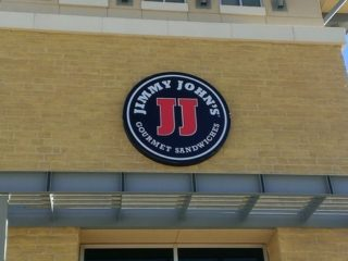 Storefront sign for Jimmy John's