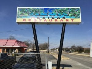 Billboard for Balsas Mexican Restaurant