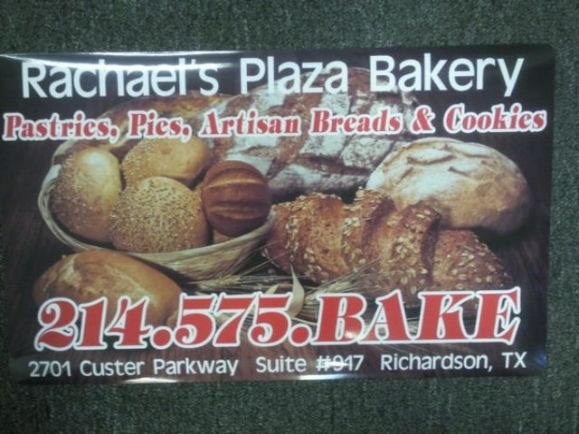 Car magnet with images for artisan bread for bakery