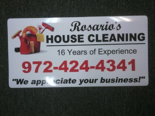 Car magnet for house cleaning company