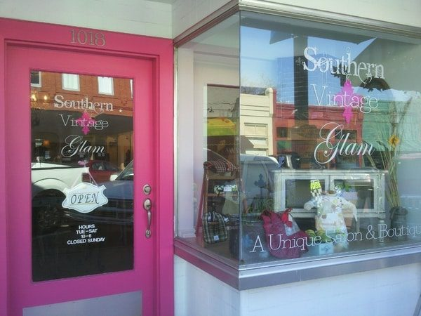 Vinyl window decals for Souther Vintage Glam Boutique