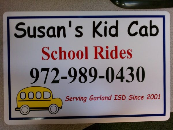 Car magnet for Kid's school rides cab company