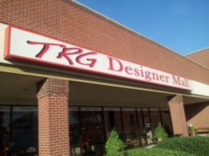 Storefront sign for TRG Designer Mall