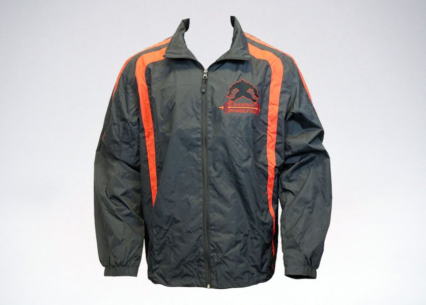 anderson powerlifting black and red jacket