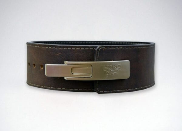 brahma oiled leather lever belt