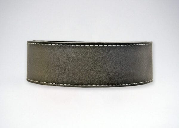longhorn finished black leather single prong belt