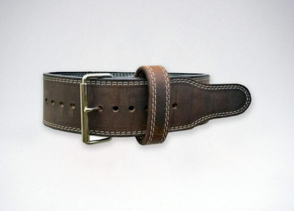 longhorn oiled leather single prong belt