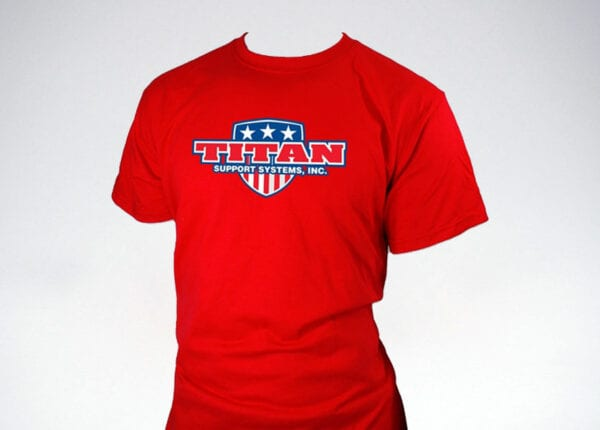 titan patriot t-shirt in red