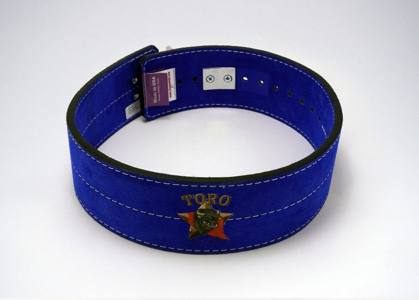 back of blue toro lever belt