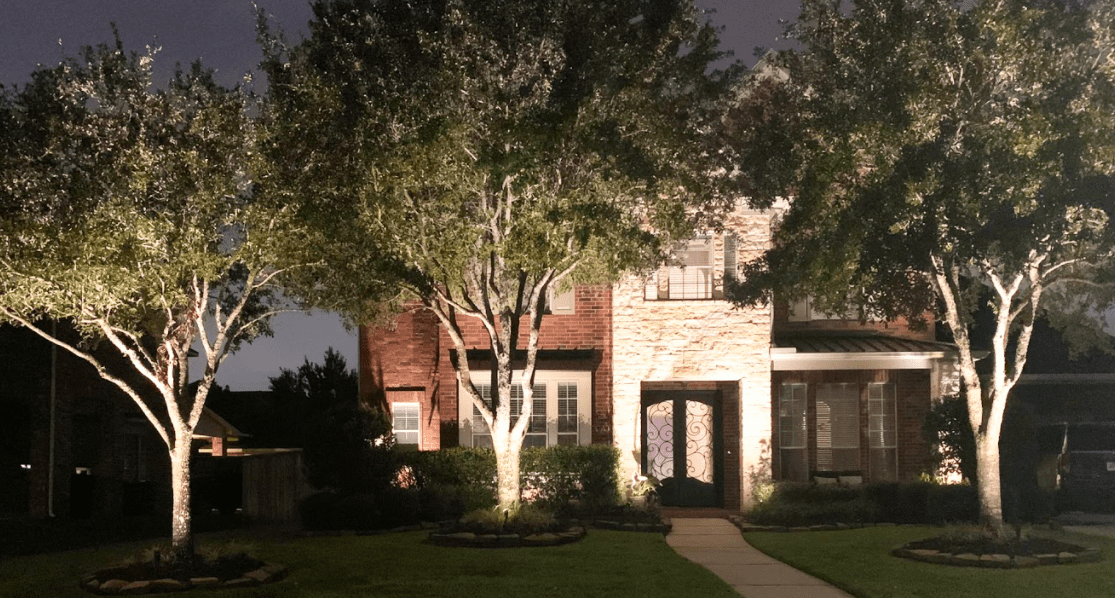 Outdoor lighting can highlight attractive parts of your yard