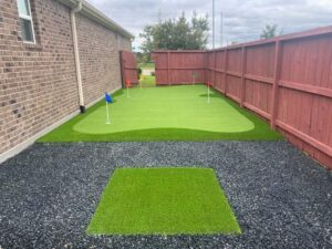golfing area on side of home