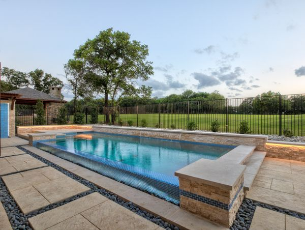 pool with accent lighting