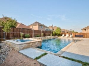 wide shot of a residential pool