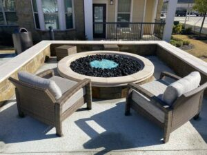 custom made gas fire pit