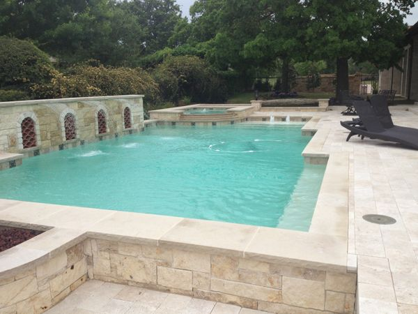 A Pool with a Concrete Deck