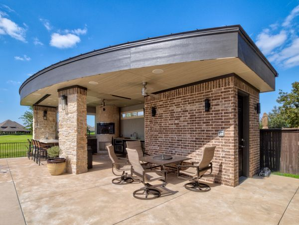 covered outdoor entertainment area