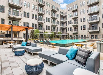 image of a pool at an apartment