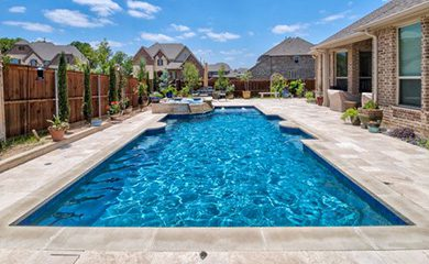 close up of a residential pool