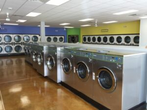 inside of a laundry mat
