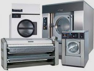 a graphic of different laundry machines