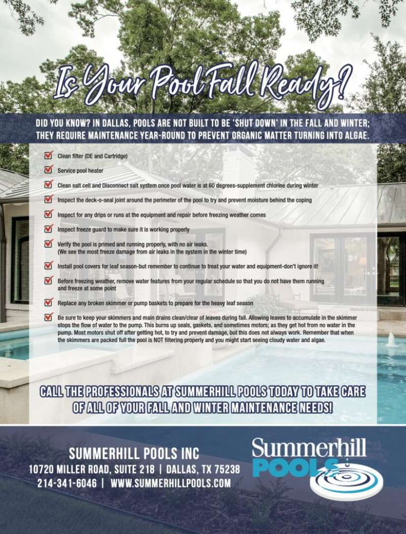 A infographic on getting your pool fall and winter ready!