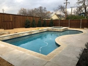 brand new pool after renovating