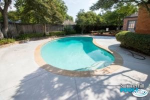 after image of a backyard pool