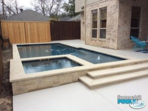 new construction of a modern style pool