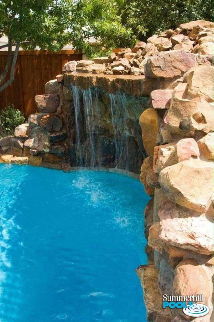 huge waterfall feature