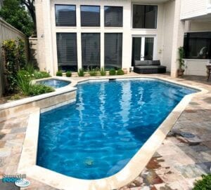 renovated pool with all new decking