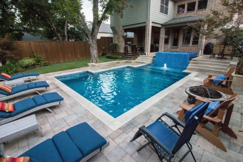 beautifully designed pool by Summerhill Pools in Dallas